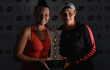 After winning the singles Barty teamed up with Casey Dellacqua to scoop the doubles. Photo: Getty Images