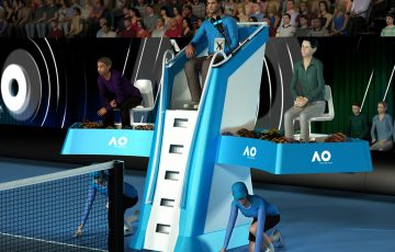 The Australian Open launches premium umpire seating. Artists impression: Harold Hichere