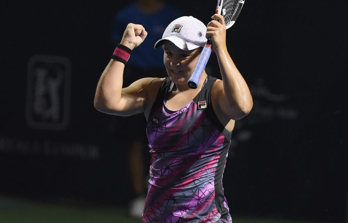 Ash Barty celebrates her first WTA title in Kuala Kumpur; Getty Images