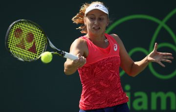 Daria Gavrilova was beaten in straight sets by Lucie Safarova. Photo: Getty Images
