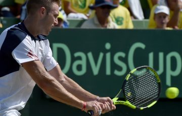 Jack Sock will lead the American Davis Cup team in a quarterfinal showdown against Australia; Getty Images
