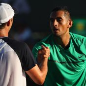 Nick Kyrgios (R) brushed aside Horacio Zeballos in the second round; Getty Images
