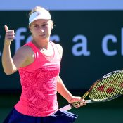 Daria Gavrilova succumbed to red-hot Elina Svitolina in the third round at Indian Wells; Getty Images