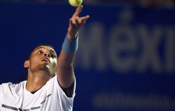 Nick Kyrgios was beaten in three sets by Sam Querrey. Photo: Getty Images
