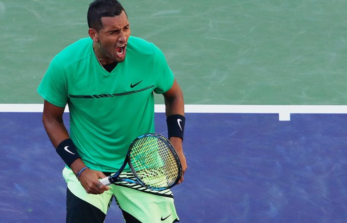 Nick Kyrgios was not broken against Karlovic. Photo: Getty Images