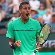 Nick Kyrgios is fired up for the Davis Cup. Photo: Getty Images