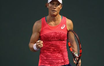 Sam Stosur beat Ash Barty 64 64 in the second round of the Miami Open. Photo: Getty Images
