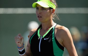 Ajla Tomljanovic scored a stunning upset of Indian Wells champion Elena Vesnina in the second round of the Miami Open. Photo: Getty Images