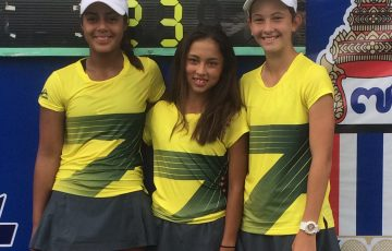 Australia's team at the ITF WJT