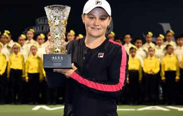 Ash Barty won her first WTA title in Kuala Lumpur. Photo: Getty Images