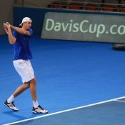 TALL ORDER: American John Isner is a proven Davis Cup performer for the United States; SMP Images