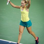Daria Gavrilova seals an unassailable 3-0 lead for Australia with a victory in the first reverse singles rubber; photo credit Srdjan Stevanovic