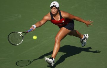 Ashleigh Barty in action in Miami in March; Getty Images