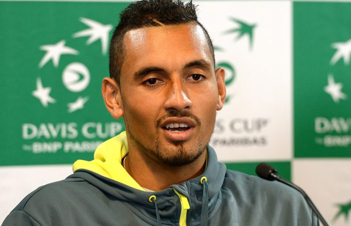 Nick Kyrgios is ready for the Davis Cup quarterfinal; Getty Images