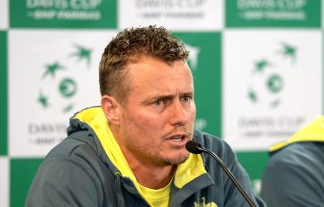 BRISBANE, AUSTRALIA - APRIL 04:  Team Captain Lleyton Hewitt of Australia speaks to the media during a press conference ahead of the Davis Cup World Group Quarterfinals tie between Australia and the United States at Pat Rafter Arena on April 4, 2017 in Brisbane, Australia.  (Photo:Getty Images)