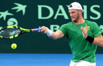 DETERMINED: Sam Groth in Davis Cup practice this week; Getty Images