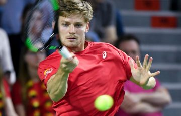 Belgium's David Goffin in Davis Cup quarterfinal action; Getty Images