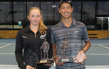 Valentina Ivanov and Chase Ferguson, the winners of the Gallipoli Youth Cup