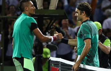 Roger Federer beat Nick Kyrgios in one of the matches of the year. Photo: Getty Images
