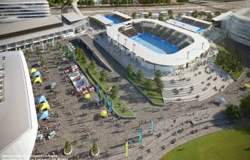 A new 5000-seat sunken showcourt will be part of Stage 3 of the Melbourne Park redevelopment.