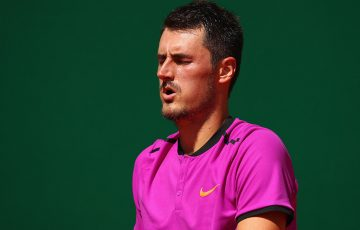 Bernard Tomic fell in the first round of the Monte Carlo Masters to Diego Schwartzman; Getty Images