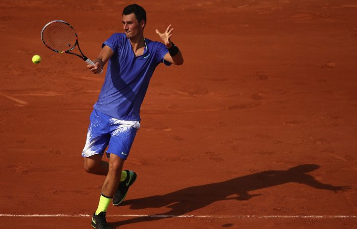 Bernard Tomic in action at Roland Garros; Getty Images