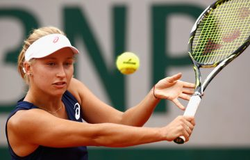 Daria Gavrilova in action during round one of Roland Garros 2017; Getty Images