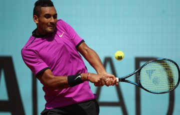 Nick Kyrgios impressed in a straight-sets win over Ryan Harrison at the Mutua Madrid Open; Getty Images