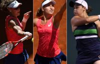 (L-R) Sam Stosur, Daria Gavrilova and Ash Barty have all advanced to the quarterfinals in Strasbourg; Getty Images