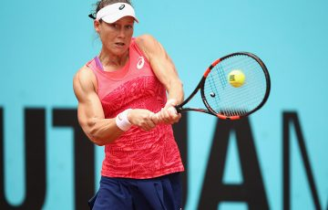Sam Stosur fell in three sets to Simona Halep in the third round of the Mutua Madrid Open; Getty Images