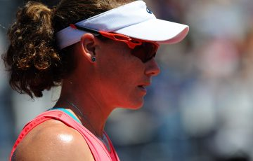Sam Stosur in action at the WTA Internationaux de Strasbourg; (c) ChryslèneCaillaud.com