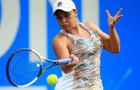 RISING STAR: Ashleigh Barty lines up a forehand in her career-best win over Barbora Strycova in Birmingham; Getty Images