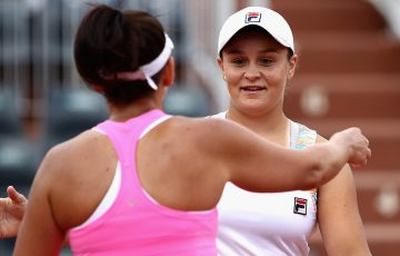Casey Dellacqua and Ash Barty are on the cusp of making history at Roland Garros. Photo: Getty Images