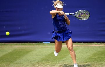 Daria Gavrilova dismantled Hsieh Su-Wei in the first round of the Aegon Classic in Birmingham; Getty Images