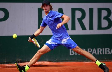 Blake Ellis is into the junior boys' singles quarterfinals at Roland Garros 2017; Getty Images
