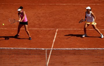 MOVING ON: Australian duo Casey Dellacqua and Ashleigh Barty are into the French Open semifinals; Getty Images