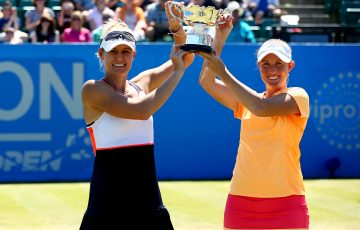 CHAMPIONS: Monique Adamczak and Storm Sanders are the Nottingham doubles champion; Getty Images for LTA