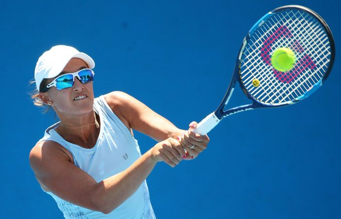 Arina Rodionova fought hard but was ultimately beaten in the Jiangxi Open quarterfinals. Photo: Getty Images
