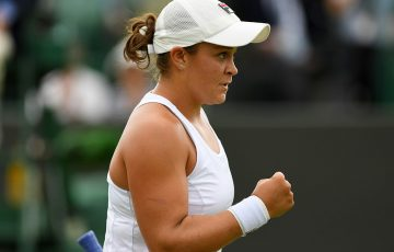Ash Barty in action at Wimbledon 2017; Getty Images