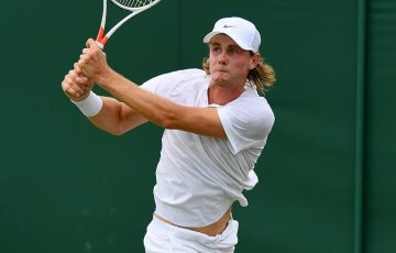 Blake Ellis in action in the boys' singles event at Wimbledon; Getty Images