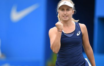 Daria Gavrilova in action during the Aegon Classic quarterfinals in Birmingham; Getty Images