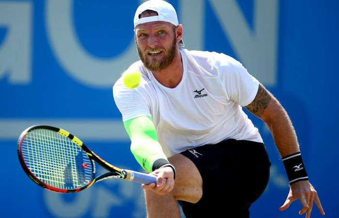 FINDING FORM: Sam Groth has scored his first ATP-level win since January to reach the second round in Newport; Getty Images