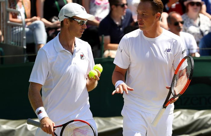 No.1 seeds John Peers (L) and Henri Kontinen are through to the men's doubles semifinals at Wimbledon; Getty Images