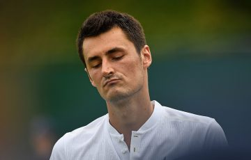 Bernard Tomic fell in the first round of Wimbledon 2017 to 27th seed Mischa Zverev; Getty Images