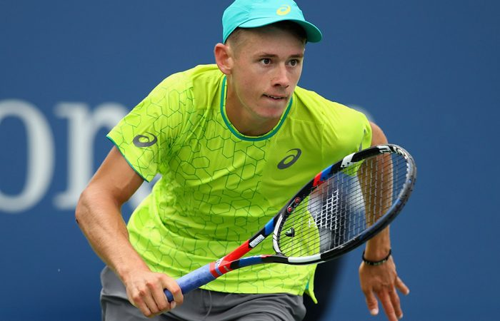 Alex De Minaur in action against Dominic Thiem in the first round of the US Open; Getty Images