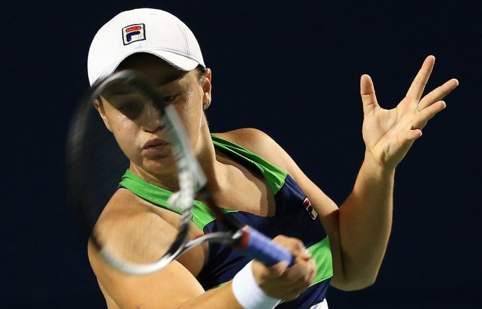 Ash Barty fell to Caroline Wozniacki in the third round of the Western & Southern Open in Cincinnati; Getty Images