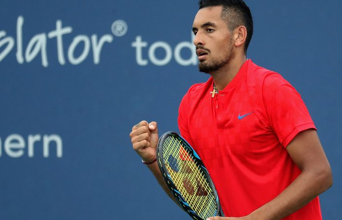 Nick Kyrgios in action at the ATP Cincinnati Masters; Getty Images