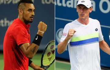 Nick Kyrgios (L) will take on John Millman in the first round of the US Open; Getty Images