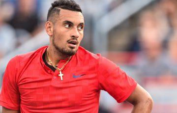 Nick Kyrgios in action at the Montreal Masters; Getty Images