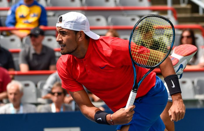 Nick Kyrgios in action at the ATP Coupe Rogers in Montreal; Getty Images